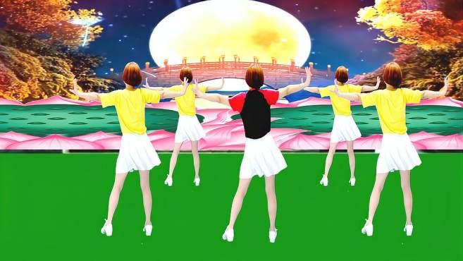 广州红色枫叶广场舞不过人间-背面演绎一样精彩漂亮