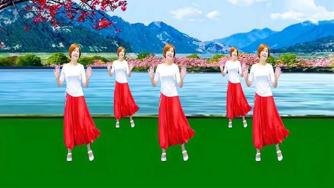 广州红色枫叶广场舞山谷里的思念-不同版本一样精彩漂亮