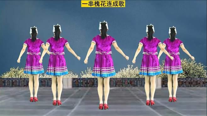 妃子红广场舞相约花儿坡-轻松欢快的曲调越听越上头!