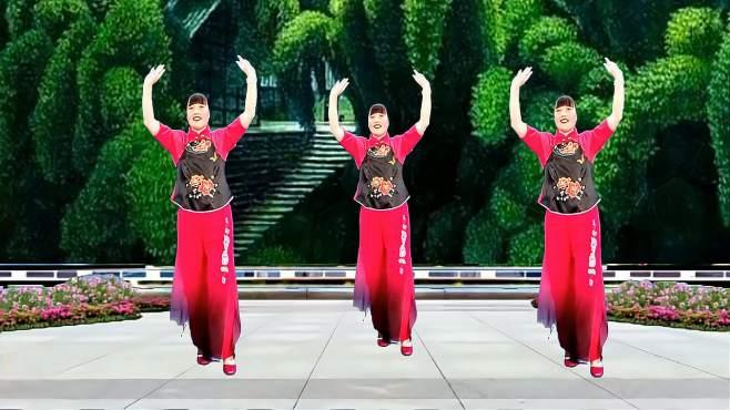 济阳红霞广场舞失忆的蝴蝶像花飞-歌优舞美柔情好看