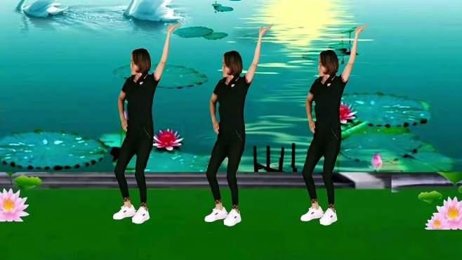 山东秋香广场舞小河淌水-歌优舞美,好听好看