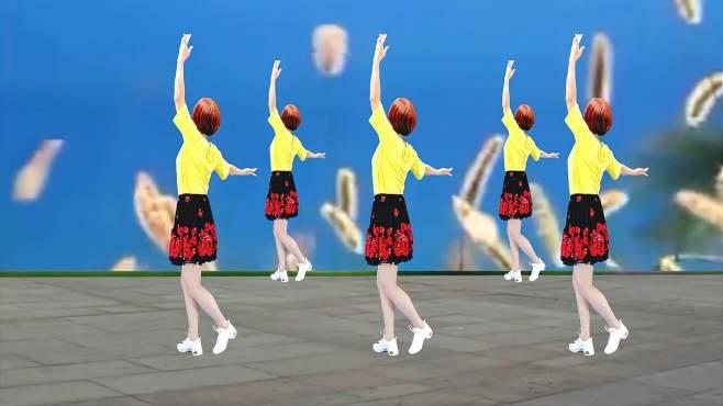 广州红色枫叶广场舞今生相爱-背面演绎一样精彩漂亮