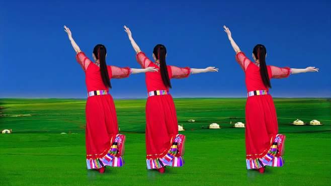 华美舞动广场舞我要去西藏-演唱:乌兰图雅,歌声悠扬沁人心脾
