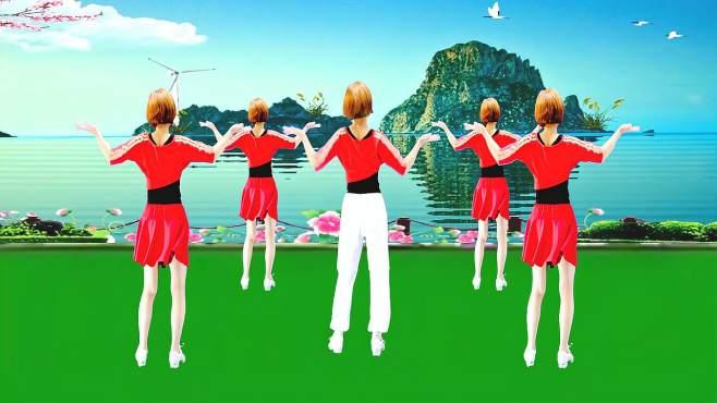 广州红色枫叶广场舞猪八戒背媳妇-背面演绎一样精彩漂亮