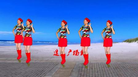 高安迷采广场舞泉水叮咚响-旋律欢快,仿佛泉水在流淌,时尚水兵