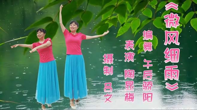 吕文广场舞微风细雨-微风吹着浮云,细雨慢慢飘落大地