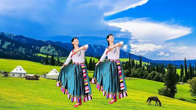 冰花花广场舞爱你每一天-藏族舞简单易学