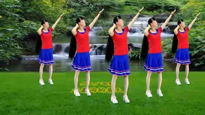 追梦玉儿代玉广场舞九寨沟的春天-欢快跺脚舞一学就会,好听好看