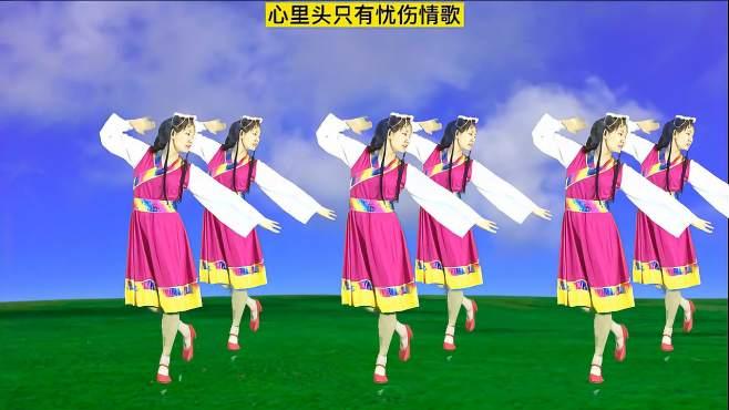妃子红广场舞一朵云在蓝天飘过-精选民族风舞蹈,越看越喜欢