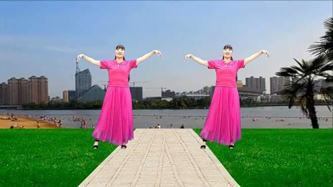 济阳红霞广场舞幸福你我手牵手-优美新颖柔情好看
