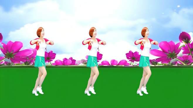 广州红色枫叶广场舞嘟嘟嘟-踩点舞吉特巴纯音乐广场舞