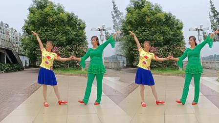 高安迷采广场舞草原情哥哥-歌曲豪迈,舞步简单好学,深情好听