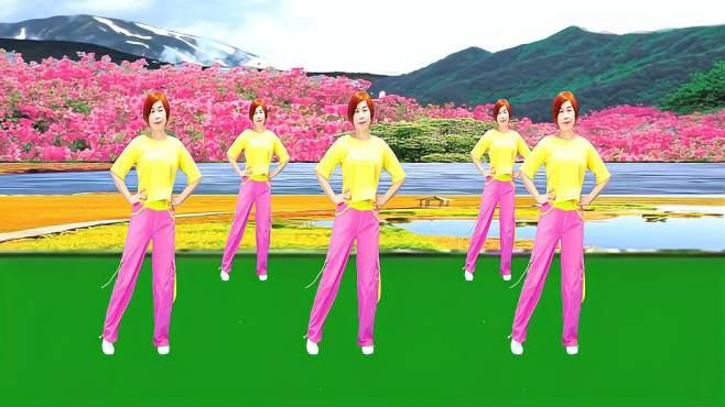 广州红色枫叶广场舞又见山里红-纯音乐版音乐好听舞蹈好看