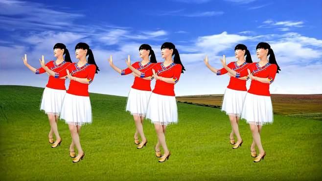 阳光香果广场舞小妹妹送我的郎+多情的雨夜更想你+一曲相送-