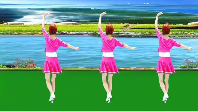 广州红色枫叶广场舞迎亲-背面演绎一样精彩漂亮