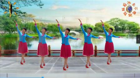 阳光美梅广场舞只要陪在你身边-原创健身舞-背面演示