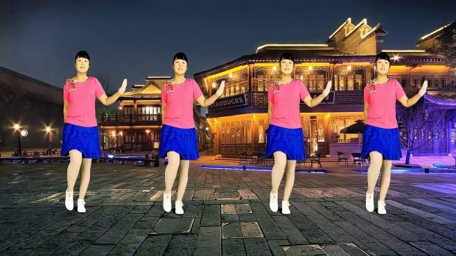 偶遇广场舞思念绕指尖-旋律动感好听,舞步时尚又好看