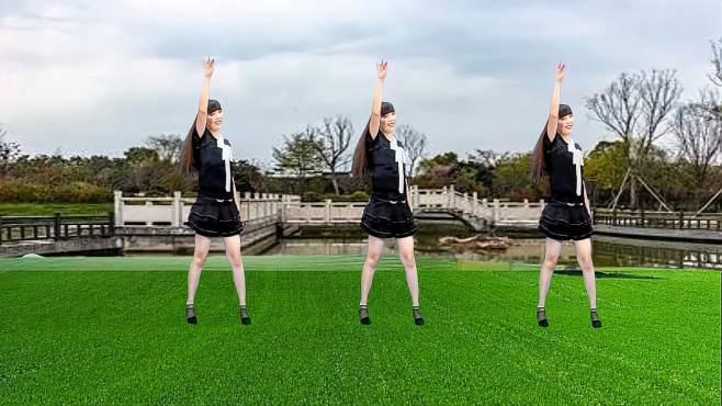 济阳红霞广场舞长得丑想的美-舞步简单易学,好听好看更好学