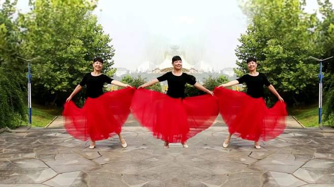 逊雪白梅广场舞红唇-双人版,演示香水百合