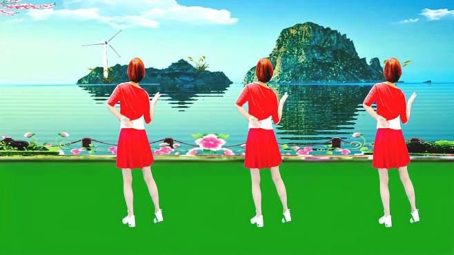 广州红色枫叶广场舞红尘情歌-背面演绎一样精彩漂亮