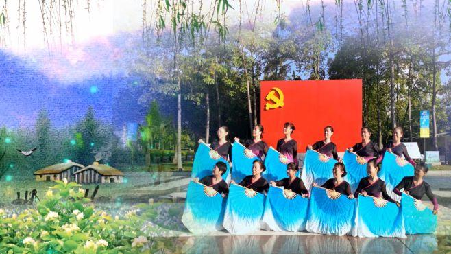 舞美人广场舞天涯海角茉莉花-这个舞蹈的队形真好看