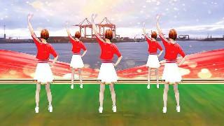 广州红色枫叶广场舞我的国-背面演绎一样精彩漂亮