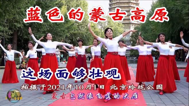 玲珑广场舞蓝色的蒙古高原-,大气漂亮