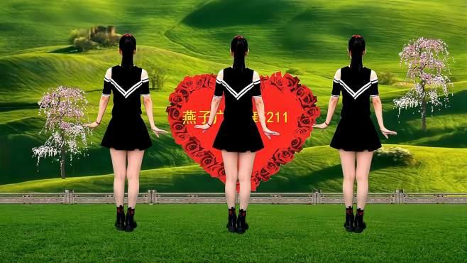 5211燕子广场舞爱上小城爱上你-广场舞背面教学简单时尚